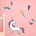 Sticker Licorne avec décor
