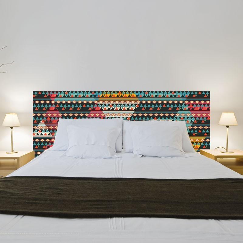 sticker t te de lit boho d coration chambre esprit. Black Bedroom Furniture Sets. Home Design Ideas