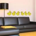 Lot de 6 stickers Canard de bain