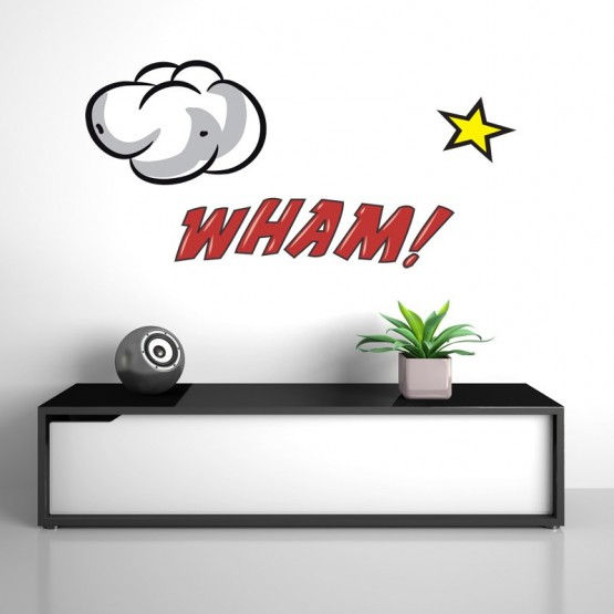 Stickers texte Comics: WHAM