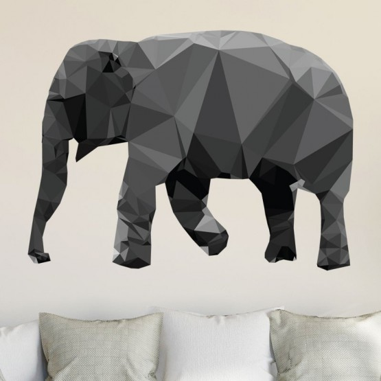 Sticker Elephant Low Poly Stickers Imprimés Gali Art