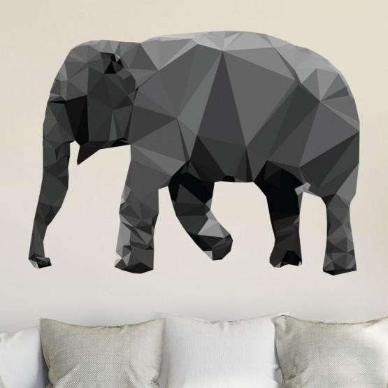 Sticker Elephant Low Poly