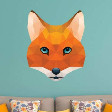Sticker Renard Low Poly