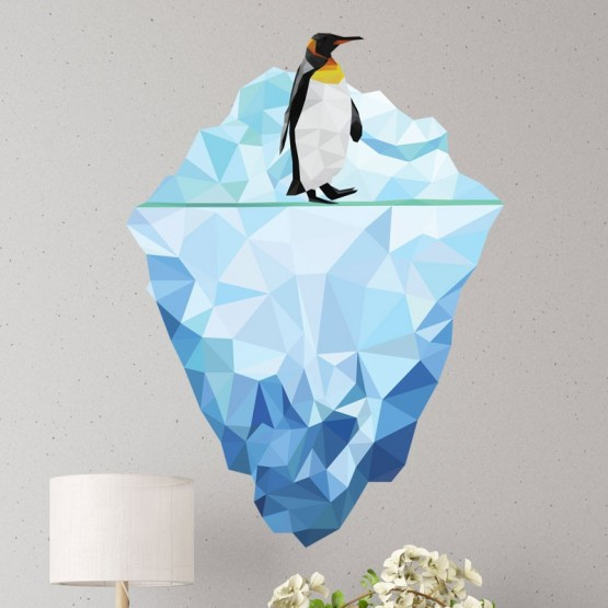 Sticker Pingouin Low Poly