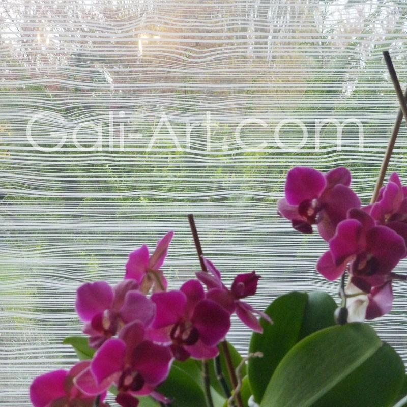 Film décoratif opacifiant pour vitre décor fines rainures ...