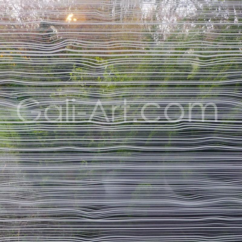 film d coratif opacifiant pour vitre d cor fines rainures occultant moderne. Black Bedroom Furniture Sets. Home Design Ideas