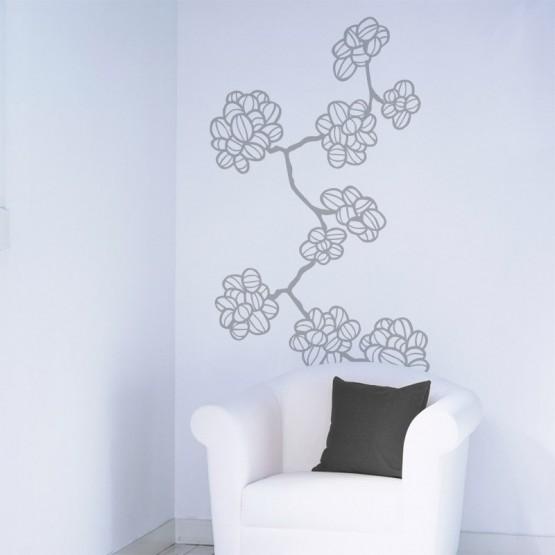 Stickers Fleurs de Coton Stickers Nature Gali Art