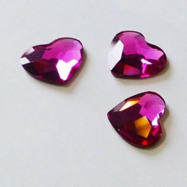 Cristal Swarovski Elements - Coeur Fushia