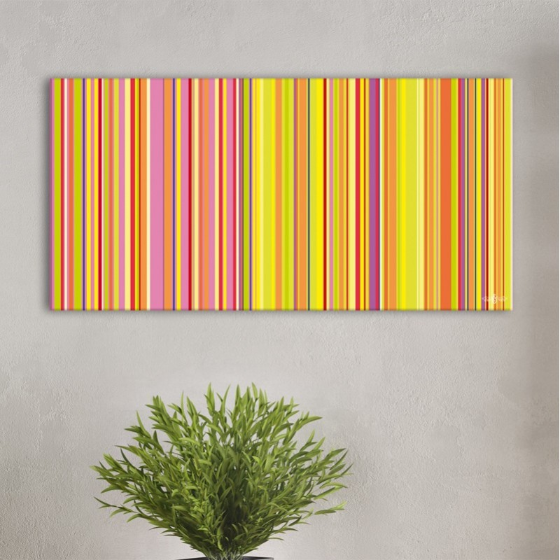 tableau rayures vertical pop toile pr t suspendre style paul smith d coration design et pop. Black Bedroom Furniture Sets. Home Design Ideas
