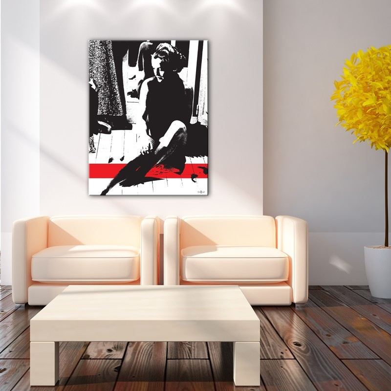 tableau hommage romy schneider toile imprim e et ench ss e grand format. Black Bedroom Furniture Sets. Home Design Ideas