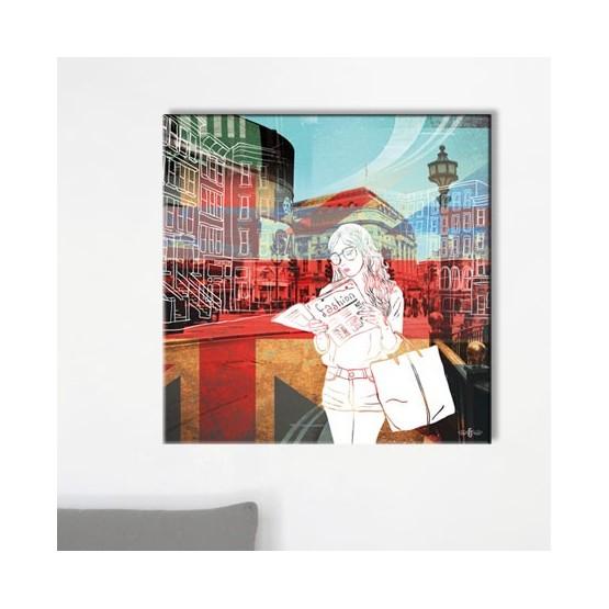 Tableau London Fashion Tableaux Atmosphère Gali Art