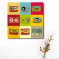 Tableau Cassettes Retro K7 Tableaux Pop Numeric Gali Art