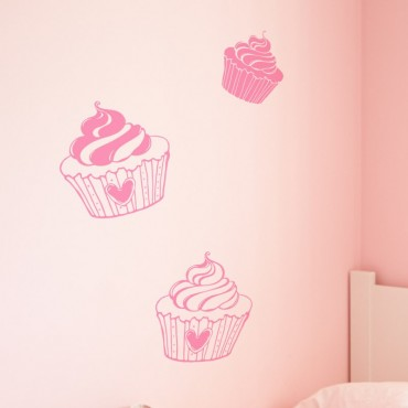 Kit de 5 Stickers Cupcakes