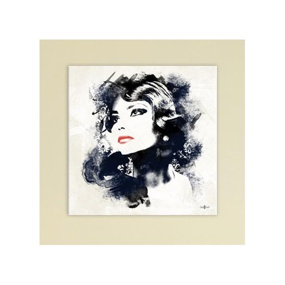 Tableau Femme Noir & Rouge