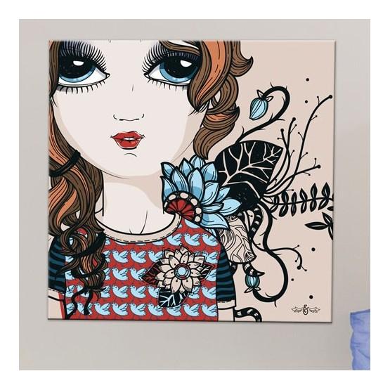 Tableau Petite Fille Aux Grands Yeux Decoration Pour Chambre D