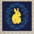 Tableau Lapin Bleu Tableaux Enfant Gali Art