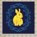 Tableau Lapin Bleu
