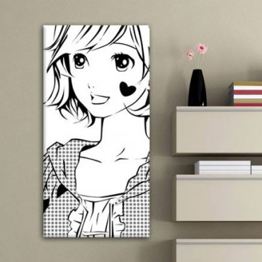 Tableau Manga Fille Shojo Amoureuse