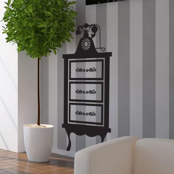 stickers meuble t l phone d coration murale baroque chic. Black Bedroom Furniture Sets. Home Design Ideas