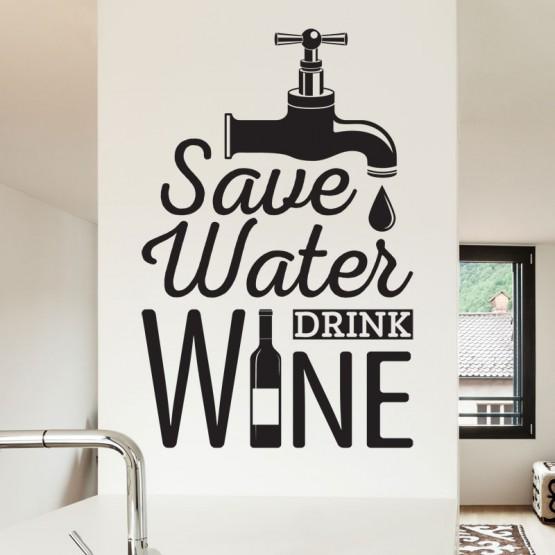 Sticker Texte Save Water