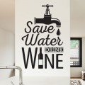 Sticker Texte Save Water