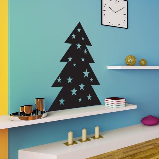 Sticker Sapin de Noël étoilé
