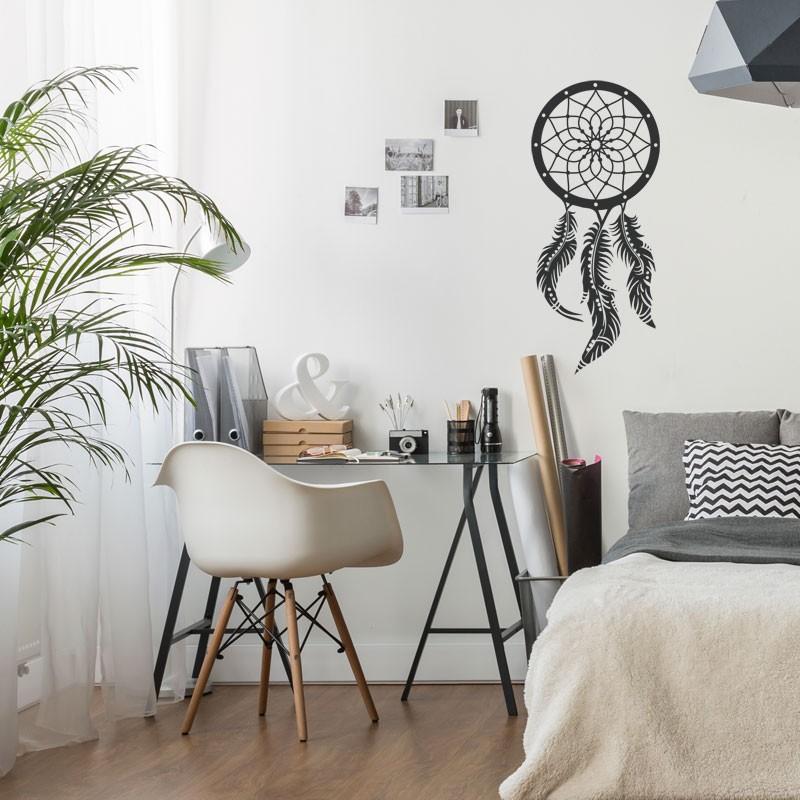 sticker attrape r ve d coration murale boh me boho. Black Bedroom Furniture Sets. Home Design Ideas