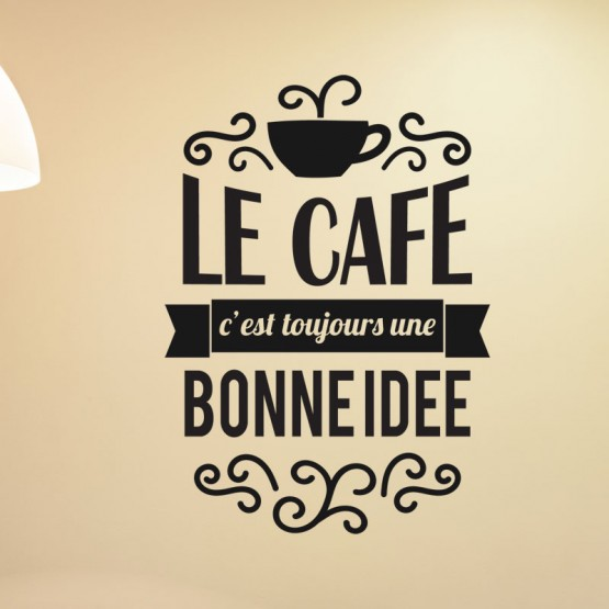 Sticker Texte Le Café