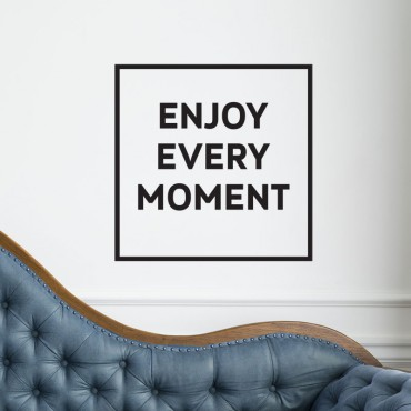 Stickers Enjoy every moment - Carré
