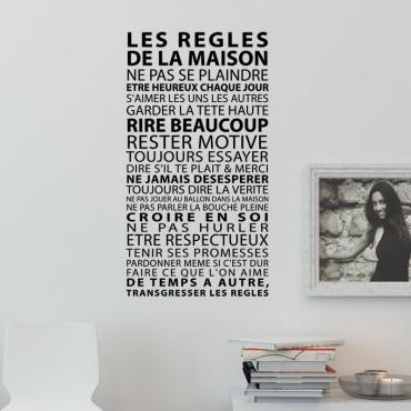 Stickers Les Règles de la Maison - PROMO