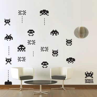 Kit de Stickers Space Invader