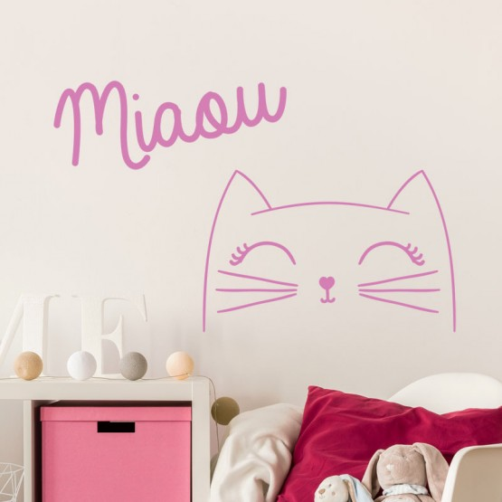 Sticker Décoratif Chat Miaou