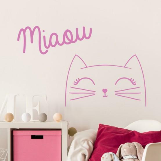 Sticker Décoratif Chat Miaou