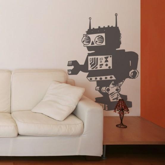 Sticker Monsieur Robot Stickers Chambres Enfants Gali Art