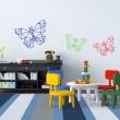 Stickers Papillon Géométrique Stickers Chambres Enfants Gali Art