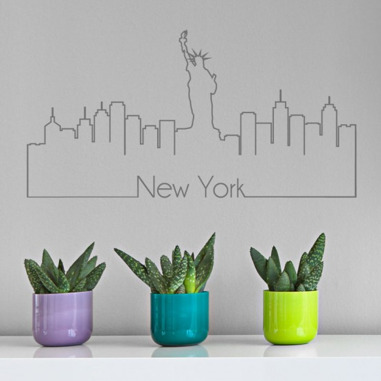 Stickers New York Skyline Stickers Voyage Gali Art