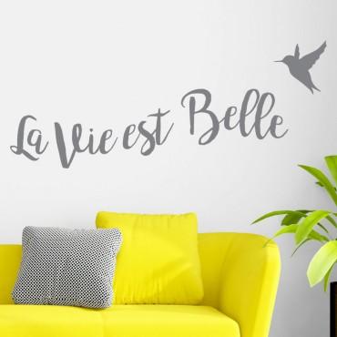 Sticker Citation: La vie est belle