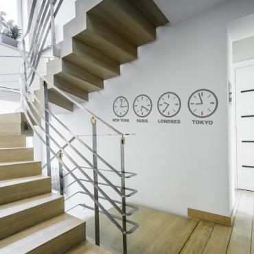 Stickers Horloges - Capitales du Monde