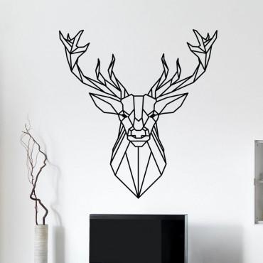 Stickers Tête de Cerf Géométrique