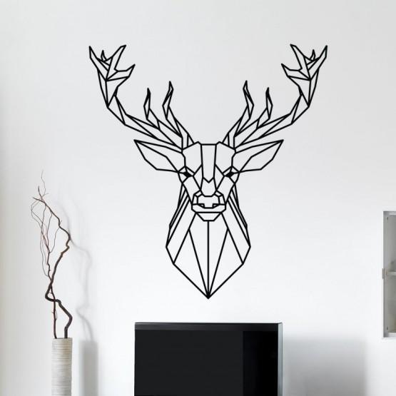 Stickers Tête de Cerf Géométrique Stickers Design Gali Art