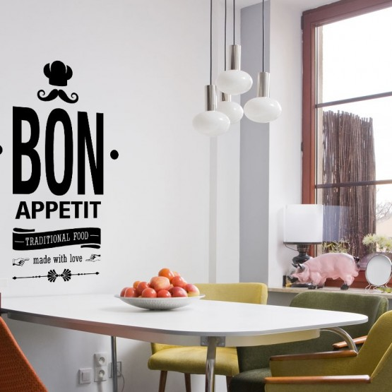 Sticker Bon Appétit Traditionnal Food Stickers Cuisine Gali Art