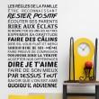 Stickers texte Règles de la Famille