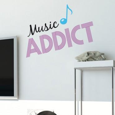 Sticker Music Addict