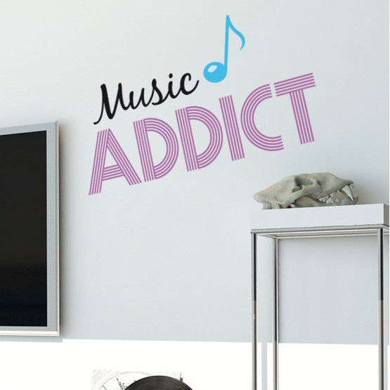 Sticker Music Addict Stickers Imprimés Gali Art