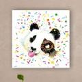 Tableau Panda et donut Tableaux Animaux Gali Art