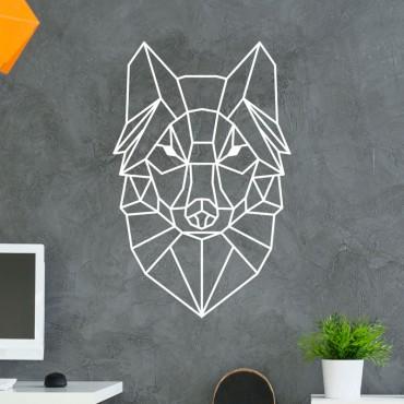 Stickers Tête de Loup Géométrique