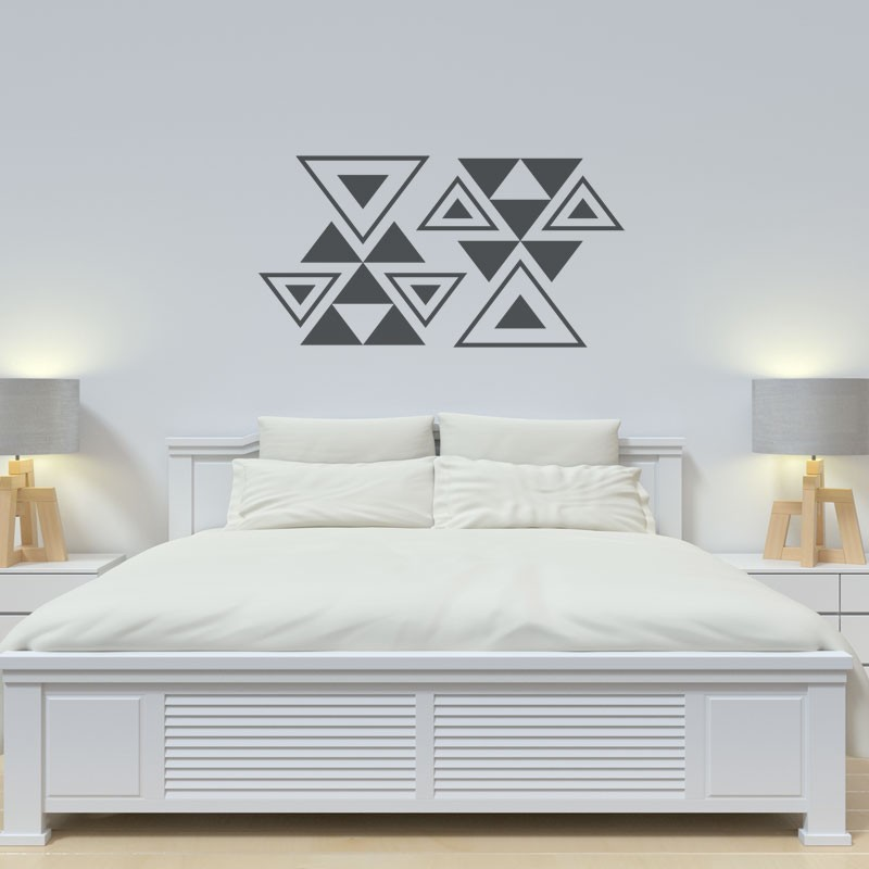 Stickers d coration murale g om trique tendance graphique - Decoration murale geometrique ...