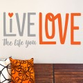 Sticker Live the life you love Stickers Texte et Citations Gali Art