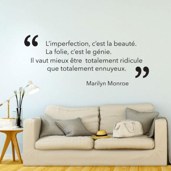 Sticker Citation Marilyn Monroe: Beauté et Génie Stickers Texte et Citations Gali Art