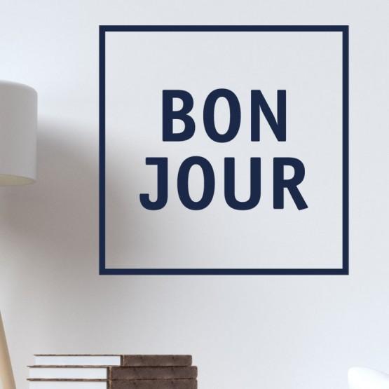 Sticker Texte Bonjour Stickers Texte et Citations Gali Art